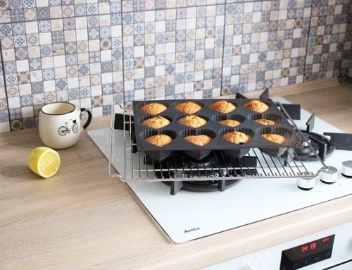 Muffins au citron avec des graines de chia